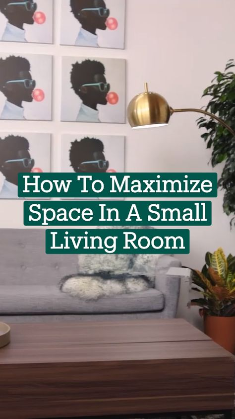 How To Maximize Space in a Small Living Room