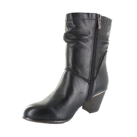 Schwarz 5cm Tozzi Damen Leder Stiefeletten 7 Marco Absatz DHIebE29WY
