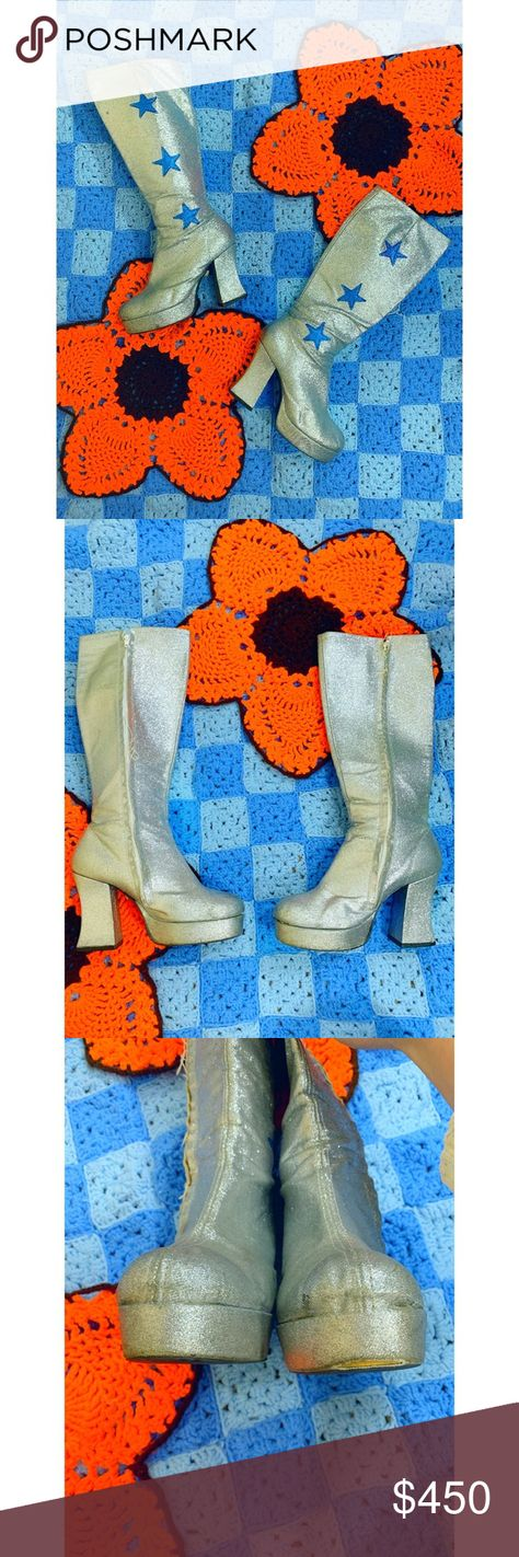 207579075eb VINTAGE 70s DAVID BOWIE GLAM ROCK BOOTS Channel your inner David Bowie