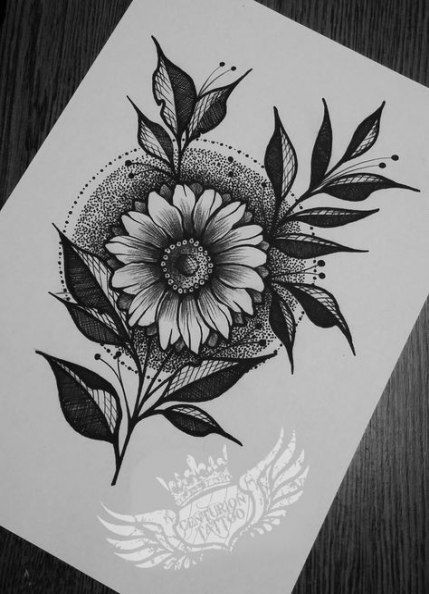 Trendy Flowers Drawing Design Tattoo Style 21 Ideas Flower Tattoo Drawings Flower Drawing Design Flower Drawing
