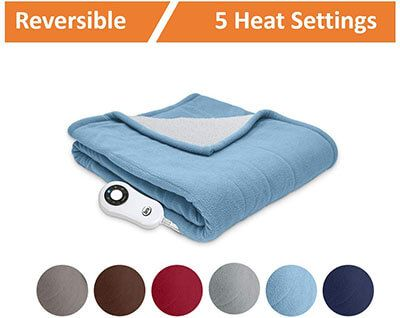 Top 10 Best Electric Throw Blankets In 2021 Reviews Amaperfect Electric Throw Blanket Battery Operated Heated Blanket Heated Blanket