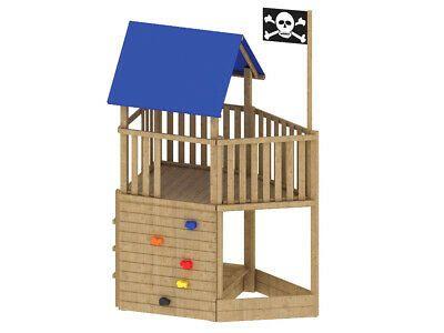 BRÜGMANN Kinder Spielturm Stelzenhaus FIPS Pirat mit