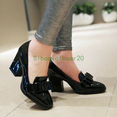 high heels, Patent leather shoes