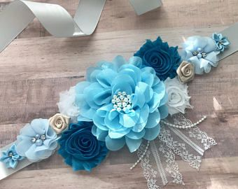Baby Boy Maternity Sash So Elegant Baby Shower Corsage Baby Shower Sash Baby Bear Baby Shower