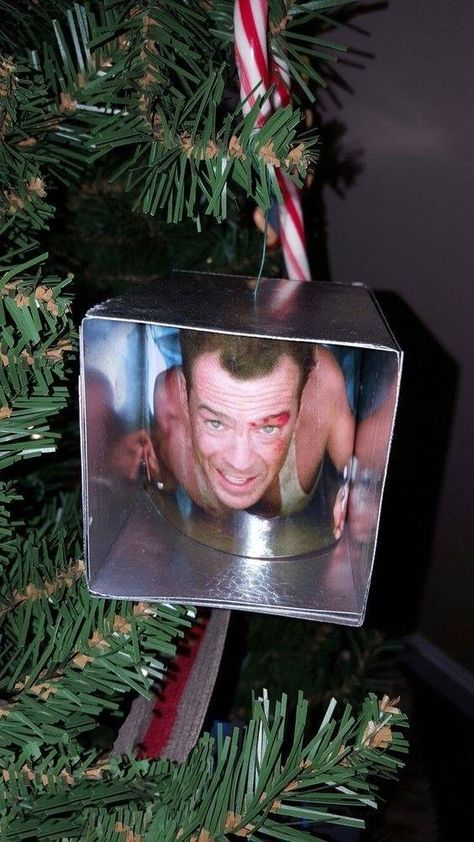 Bruce Willis In A Christmas Ornament Funny Christmas Ornaments Funny Christmas Ornaments Diy Christmas Ornaments