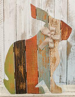 Slat Rabbit W Bow Wood Crafts Furniture Wood Crafts Rabbit Crafts