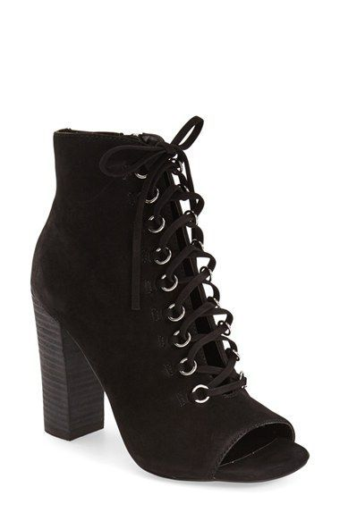 1d810e50fc1 Steve Madden 'Freemee' Open Top Lace-Up Bootie (Women) available at ...