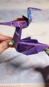 Handmade Origami Swan Video Tutorial #handmade #origami #Swan #Tutorial #Video