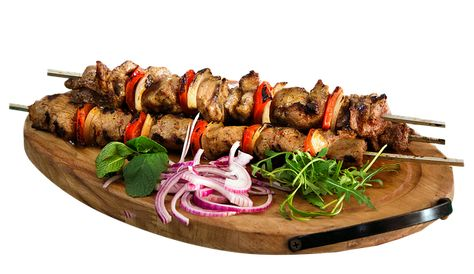 Chicken Kebabs with Roasted Red Onions