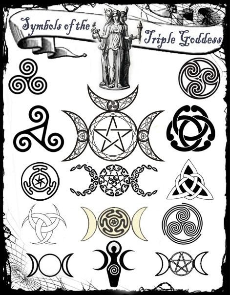 Most popular tags for this image include: wicca, pagan, triple goddess and witch Goddess Symbols, Pagan Symbols, Triple Goddess Symbol, Triple Moon Goddess, Celtic Mythology, Viking Symbols, Egyptian Symbols, Ancient Symbols, The Goddess