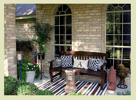 LOVE this patio makeover!  Mine needs some serious help.