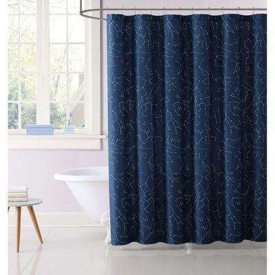 Night Sky Shower Curtain Blue Shower Curtains Kids Shower