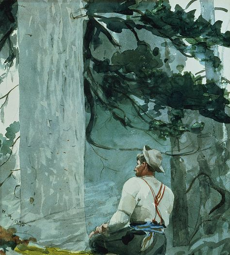 Winslow Homer The Guide, 1895 Watercolor on paper 15 x 13 inches Image