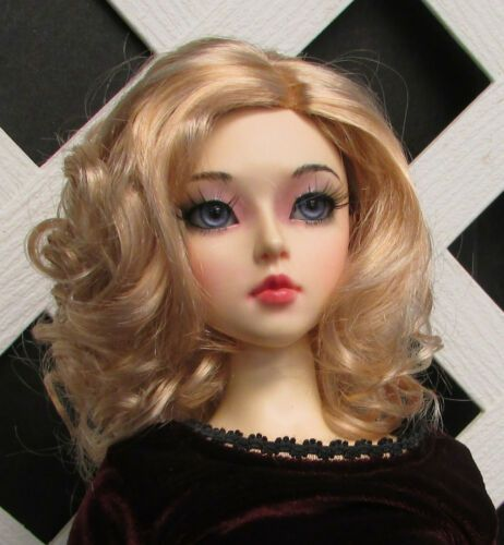 "1//4 1//3 bjd SD 7-8/"" doll head baby blue short wig Luts Iplehouse dollfie MSD"