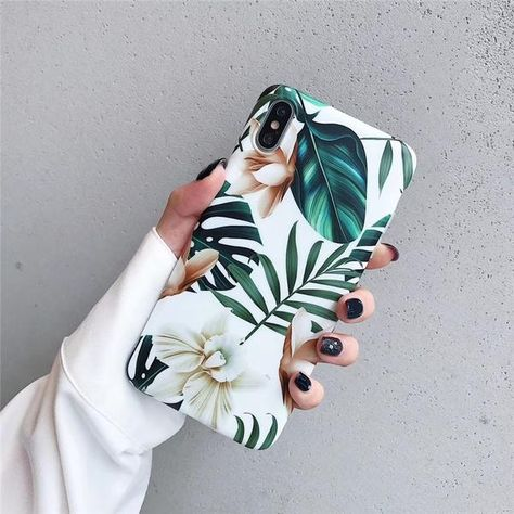 Plants leaves floral phone cases for iphone XS Max X XR XS matte TPU Case For iphone 6 6s 7 8 plus back cover