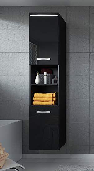 Badezimmer Hochschrank Schwarz Wei0 Single Schlafzimmer In 2020 Badezimmer Schrank Badezimmer Hochschrank Badezimmer