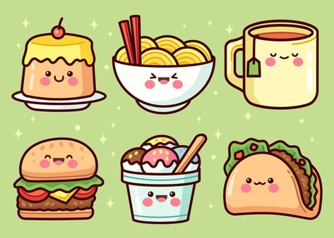 Download Hand Drawn Food Elements Collection for free