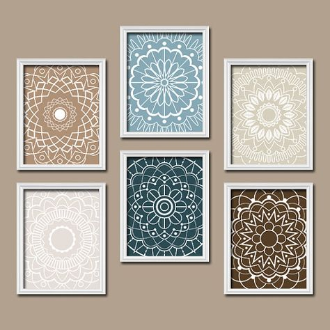 other colors available... Bathroom Wall Art Bedroom Artwork Kitchen Medallion by TRMdesign