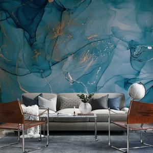 Oxidized Rustic Wallpaper Copper Type Peel And Stick Etsy Blue Marble Wallpaper Marble Wallpaper Watercolor Wallpaper