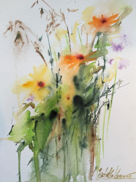 Neighbor Girl S Gift Worldwatercolormonth Aquarell Blumen
