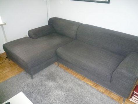 Ikea Kramfors Sofa Mit Recamiere Stoff Dunkelgrau In