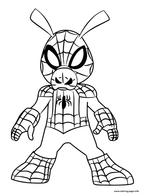 Print Spider Ham Coloring Pages Spiderman Coloring Coloring
