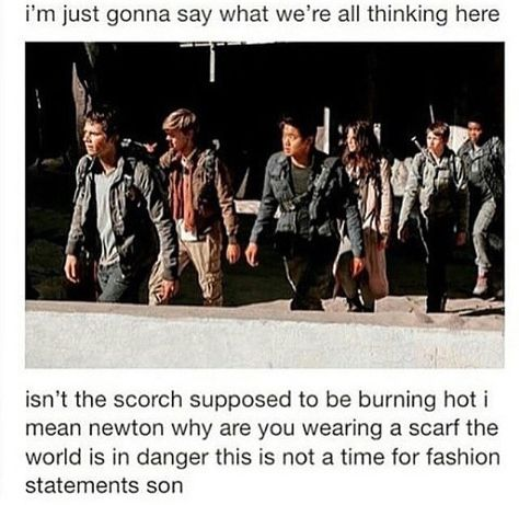 Newt always has time for fashion.