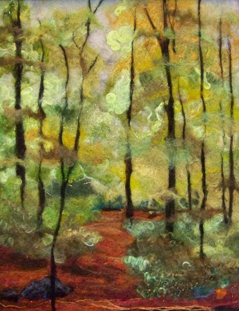 In the Woods Too Needlefelt Art XLarge by Deebs on Etsy,