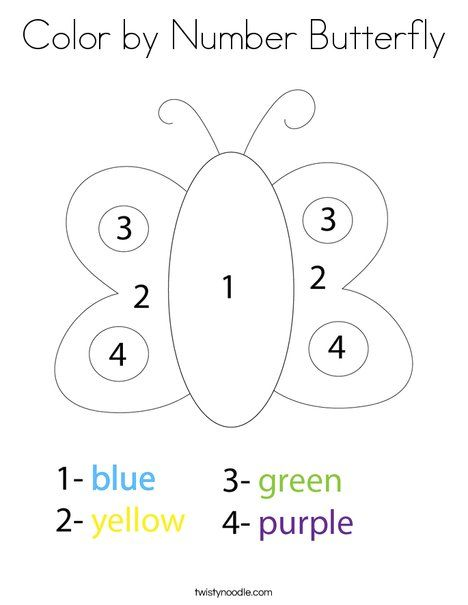 Color By Number Butterfly Coloring Page Twisty Noodle Kindergarten Coloring Pages Preschool Coloring Pages Bible Activities For Kids