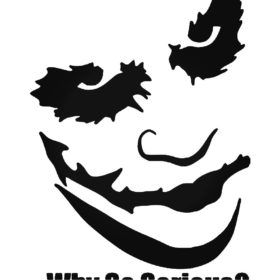 "Clown Face Angry Car Bumper Sticker Decal 5/"" x 5/"""