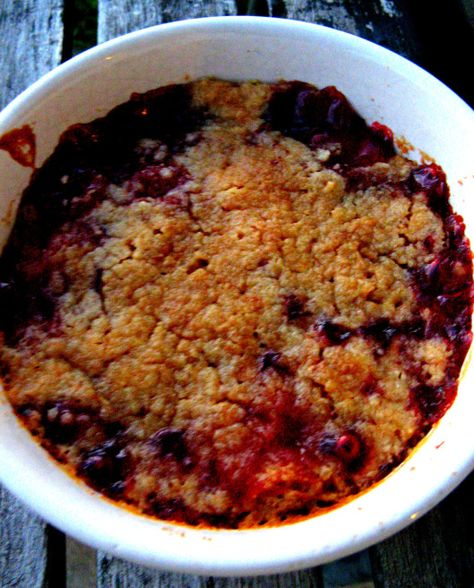 Individual Cherry Cobblers