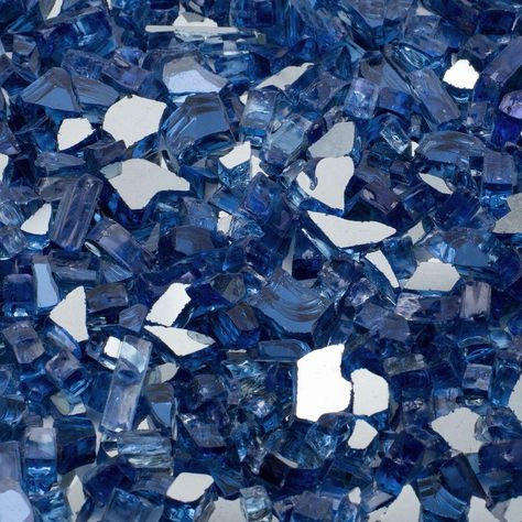 1/4 in. 25 lb. Cobalt Blue Reflective Tempered Fire Glass
