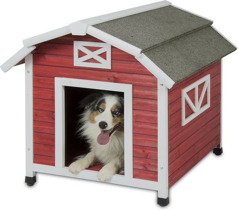 Precision Pet Products Old Red Barn Dog House Large With Images
