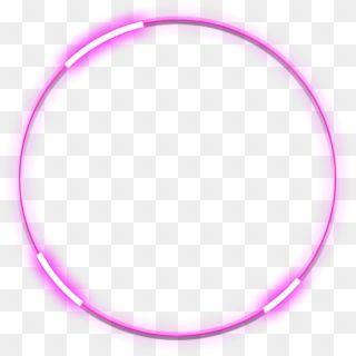 Neon Round Pink Freetoedit Circle Frame Border Blue Neon Circle Png Transparent Png Circle Neon Png Png