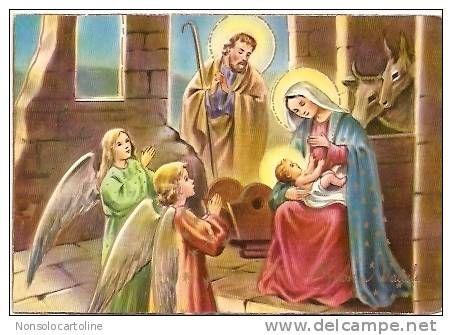 Buon Natale Gesù Bambino ,Maria, Giuseppe