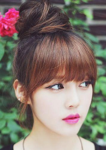 Beautiful Korean Long Hair For Women 2020 Bun Hairstyles Asian Hair Messy Bun Hairstyles