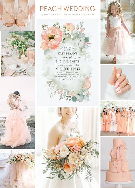 Peach Wedding Pastel Soft Dreamy Ideas