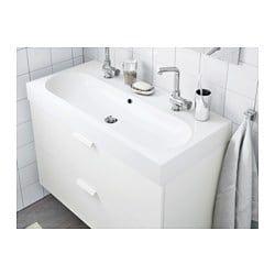 Braviken Sink White 39 3 8x18 7 8x3 7 8 Ikea Small Double Sink Vanity Sink Bathroom Decor