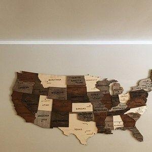 Map Of United States Push Pin Map Wood Wall Art Us Map Art Us Map Wall Decor Travel Decor Usa America Rustic Enjoy The Wood World Map Wall Art Map Wall