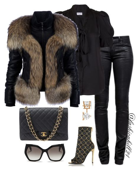 A fashion look from December 2015 featuring Whistle & Wolf blouses, Philipp Plein jackets и J Brand jeans. Browse and shop related looks. Lila Outfits, Mode Outfits, Classy Outfits, Chic Outfits, Fashion Outfits, Womens Fashion, Fashion Trends, Looks Chic, Mode Style