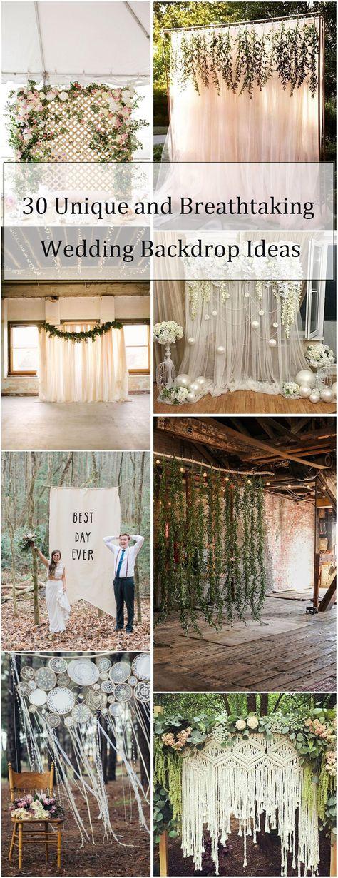 Rustic Weddings » 30 Unique and Breathtaking Wedding Backdrop ...