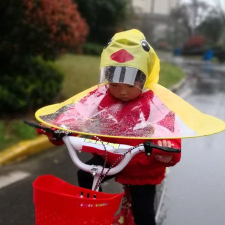 Buy Creative Portabe Foldable Waterproof Hands Free Headwear Rain Coat Hat Umbrella For Kids Online With High Quality At The Reasonable Price And Fashion Trendy