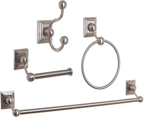 Amazon Com Bino Arden 4 Piece Bathroom Hardware Set With 24