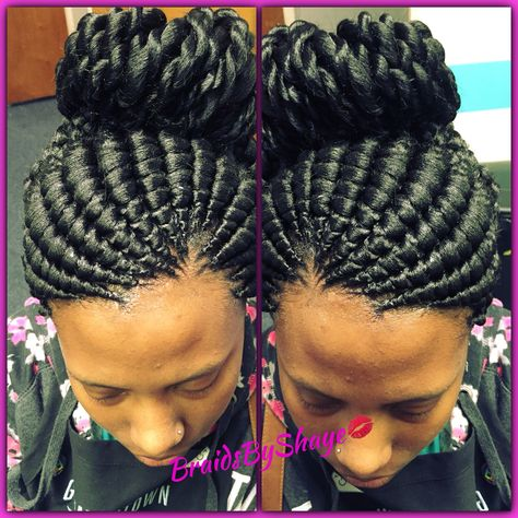 Ghana Bun With Twisted Ends Cornrow Hairstyles Hair Styles
