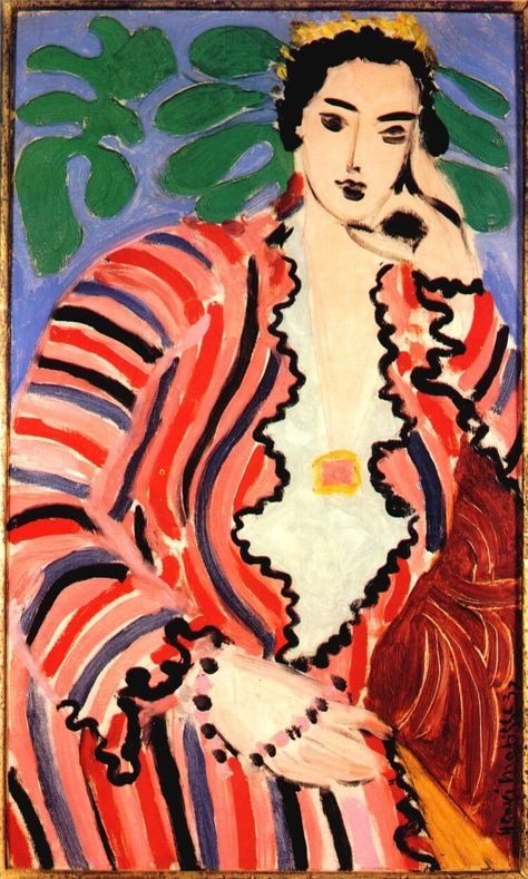 Matisse /  Helene, 1937. Matisse combined secure draftsmanship with a wonderful, natural use of paint. It all looks quite simple ... the art that conceals art.