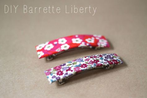 DIY - Barrette en Liberty: Simplette