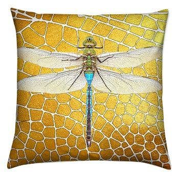 Bugs Beautiful Dragonfly Cushion Cover Insect Design Print