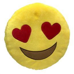 Cuscini Emoticon.Cuscino Peluche Emoji Occhi A Cuoricino Con Immagini Peluche