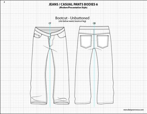 Mens Flat Fashion Sketch Templates - My Practical Skills