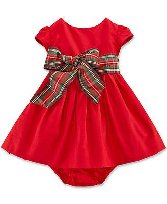 Ralph Lauren Baby Girls' Cotton Sateen Fit-and-Flare Dress ...